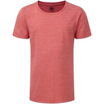 textil Pige T-shirts m. korte ærmer Russell R165G Red Marl