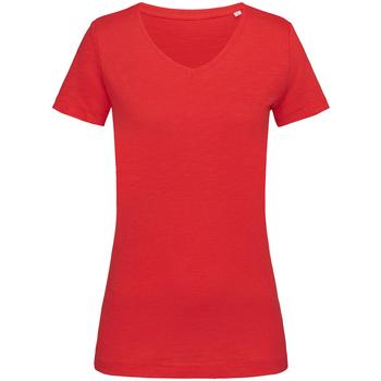 textil Dame T-shirts m. korte ærmer Stedman Stars  Crimson Red