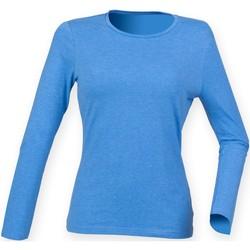 textil Dame Langærmede T-shirts Skinni Fit SK124 Heather Blue