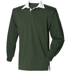 textil Herre Polo-t-shirts m. lange ærmer Front Row Rugby Bottle Green