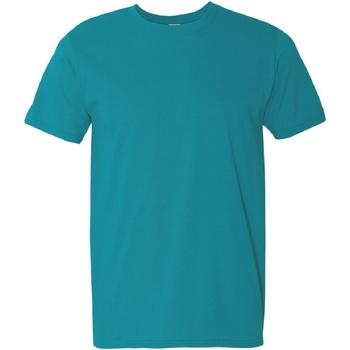 textil Herre T-shirts m. korte ærmer Gildan Soft-Style Tropical Blue