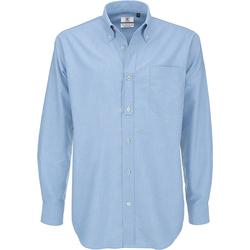 textil Herre Skjorter m. lange ærmer B And C SMO01 Oxford Blue