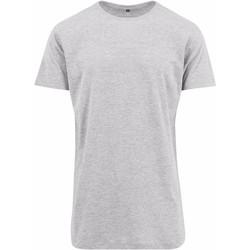 textil Herre T-shirts m. korte ærmer Build Your Brand Shaped Heather Grey