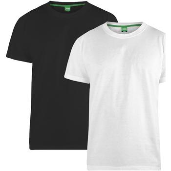 textil Herre T-shirts m. korte ærmer Duke Fenton Black/White