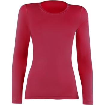 textil Dame Langærmede T-shirts Rhino RH003 Red