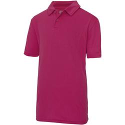 textil Børn Polo-t-shirts m. korte ærmer Just Cool  Hot Pink