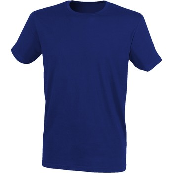 textil Herre T-shirts m. korte ærmer Skinni Fit SF121 Heather Navy