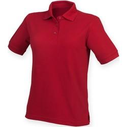 textil Dame Polo-t-shirts m. korte ærmer Henbury HB401 Vintage Red