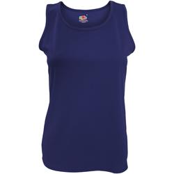 textil Dame Toppe / T-shirts uden ærmer Fruit Of The Loom 61418 Deep Navy