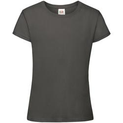 textil Pige T-shirts m. korte ærmer Fruit Of The Loom 61017 Light Graphite