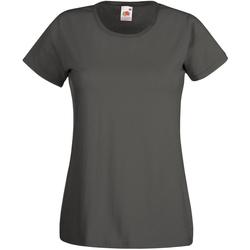 textil Dame T-shirts m. korte ærmer Universal Textiles 61372 Graphite