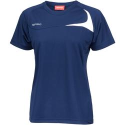 textil Dame T-shirts m. korte ærmer Spiro S182F Navy/White