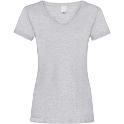 textil Dame T-shirts m. korte ærmer Universal Textiles Value Grey Marl