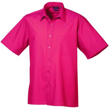 textil Herre Skjorter m. korte ærmer Premier PR202 Hot Pink