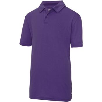 textil Børn Polo-t-shirts m. korte ærmer Just Cool  Purple