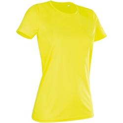 textil Dame T-shirts m. korte ærmer Stedman  Cyber Yellow
