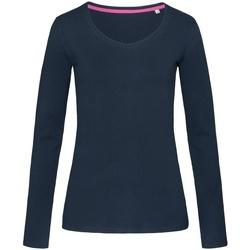 textil Dame Langærmede T-shirts Stedman Stars  Marina Blue