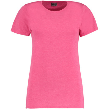 textil Dame T-shirts m. korte ærmer Kustom Kit Superwash Pink Marl