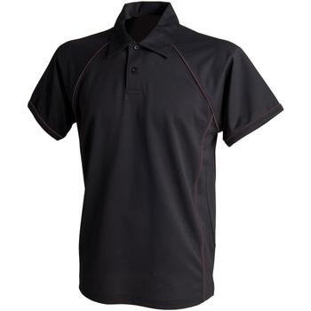 textil Herre Polo-t-shirts m. korte ærmer Finden & Hales Piped Black/Black