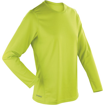 textil Dame Langærmede T-shirts Spiro S254F Lime Green
