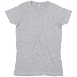 textil Dame T-shirts m. korte ærmer Mantis M69 Heather Grey Melange