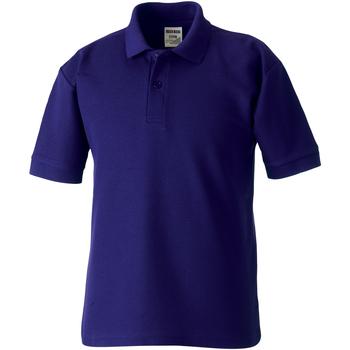 textil Dreng Polo-t-shirts m. korte ærmer Jerzees Schoolgear 539B Purple
