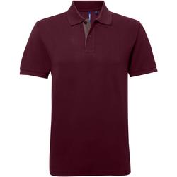 textil Herre Polo-t-shirts m. korte ærmer Asquith & Fox AQ012 Burgundy/ Charcoal