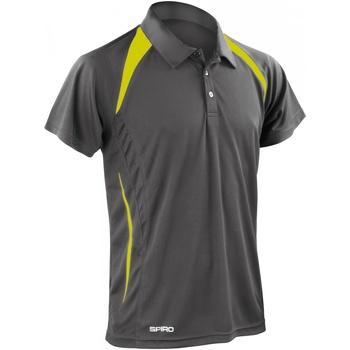 textil Herre Polo-t-shirts m. korte ærmer Spiro S177M Grey/Lime