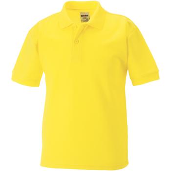 textil Dreng Polo-t-shirts m. korte ærmer Jerzees Schoolgear 65/35 Yellow