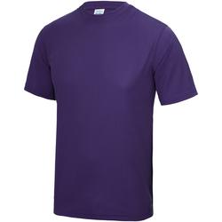 textil Børn T-shirts m. korte ærmer Awdis JC01J Purple