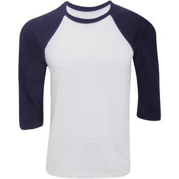 textil Herre Langærmede T-shirts Bella + Canvas CA3200 White/Navy