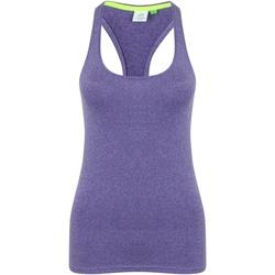 textil Dame Toppe / T-shirts uden ærmer Tombo TL506 Purple Marl