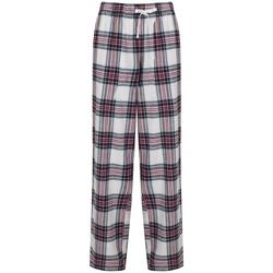 textil Dame Løstsiddende bukser / Haremsbukser Skinni Fit Tartan White/Pink Check