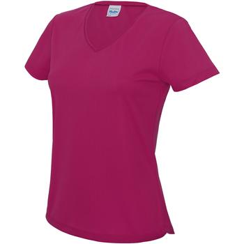 textil Dame T-shirts m. korte ærmer Awdis JC006 Hot Pink