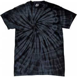 textil T-shirts m. korte ærmer Colortone Tonal Spider Black