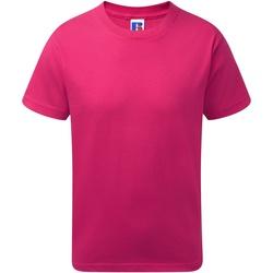 textil Dreng T-shirts m. korte ærmer Jerzees Schoolgear J155B Fuchsia