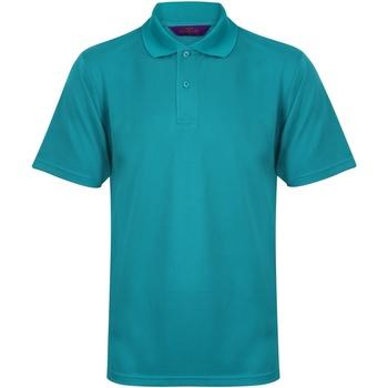 textil Herre Polo-t-shirts m. korte ærmer Henbury HB475 Bright Jade
