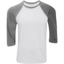 textil Herre Langærmede T-shirts Bella + Canvas CA3200 White/Deep Heather