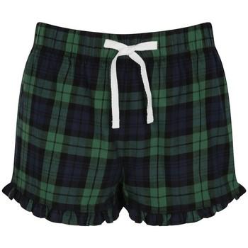 textil Dame Shorts Skinni Fit SK082 Navy/Green Check