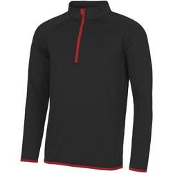 textil Herre Sweatshirts Awdis JC031 Jet Black/ Fire Red