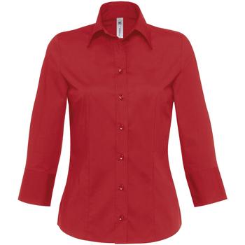 textil Dame Skjorter / Skjortebluser B And C Milano Deep Red