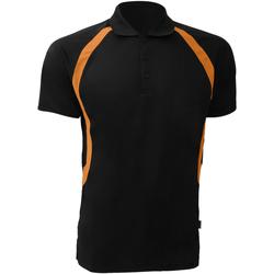 textil Herre Polo-t-shirts m. korte ærmer Gamegear Riviera Black/Orange