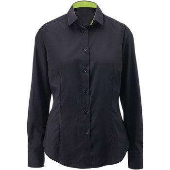 textil Dame Skjorter / Skjortebluser Alexandra AX060 Black/ Lime