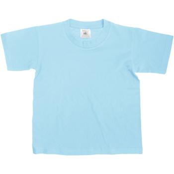 textil Børn T-shirts m. korte ærmer B And C Exact Sky Blue