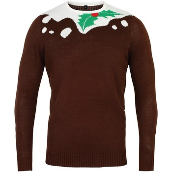 textil Herre Pullovere Christmas Shop CS155 Brown/White