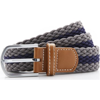 Accessories Herre Bælter Asquith & Fox Two Colour Stripe Slate/Navy