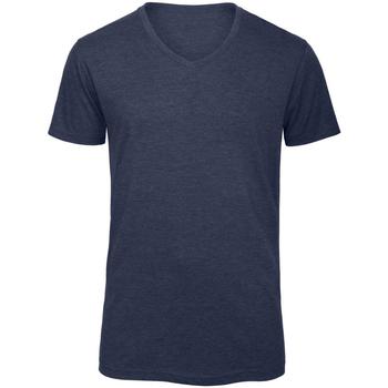 textil Herre T-shirts m. korte ærmer B And C TM057 Heather Navy