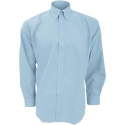 textil Herre Skjorter m. lange ærmer Kustom Kit KK351 Light Blue