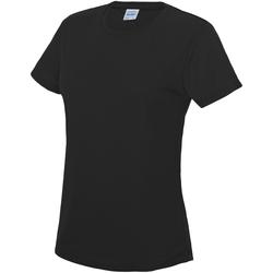 textil Dame T-shirts m. korte ærmer Awdis JC005 Jet Black