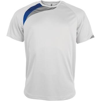 textil Herre T-shirts m. korte ærmer Kariban Proact PA436 White/ Royal/ Storm Grey